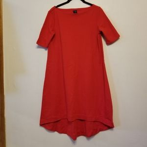 Gap Maternity 100% cotton true red hi-lo dress
